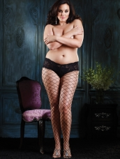 Plus Size Diamond Pantyhose