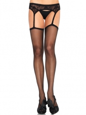 Sheer Garterbelt Stockings