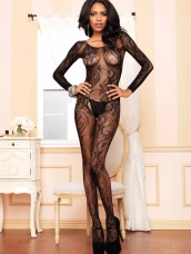 Naadloze Bodystocking Swirl Lace Bodystocking