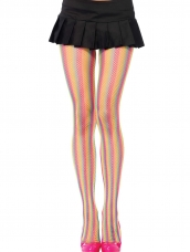 Rainbow Fishnet Pantyhose